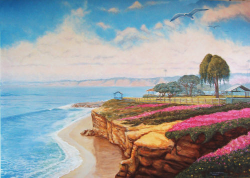 Rik Erickson mural depicting La Jolla Cove area